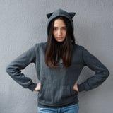 Angry teenage girl suspected something  wrong Royalty Free Stock Image