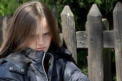 Angry teenage girl Stock Images