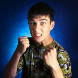 Angry Teenager royalty free stock photo