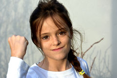 Angry teenager girl royalty free stock photo