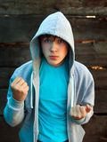 Angry Teenager outdoor stock photography