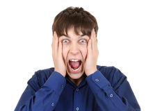 Angry Teenager Portrait Stock Photography