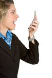 Angry Telephone Woman Stock Images