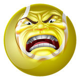 Angry Tennis Ball Sports Cartoon Mascot Stock Photo