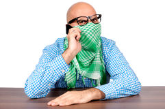 Angry terrorist Royalty Free Stock Photography