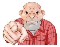 Angry Thug Pointing Stock Image