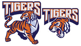 Angry tiger mascot Stock Photo