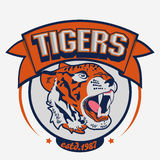 Angry Tiger Sport team emblem Stock Photography