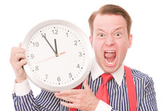 Angry time Royalty Free Stock Photo