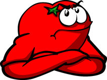 Angry tomato with folded arms Stock Photo