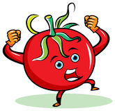 Angry tomato Royalty Free Stock Image