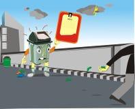 Angry Trash Box Stock Photos