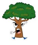 Angry tree cartoon Stock Photos