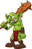 Angry troll. Angry cartoon troll. Vector clip art illustration with simple gradients. All in a single layer Stock Image
