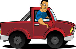 Cartoon Man Driving Truck Stock Photos Images Amp Pictures