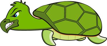 Angry turtle stock illustration