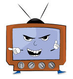 Angry tv cartoon Royalty Free Stock Images