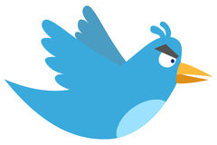 Angry tweet vector illustration