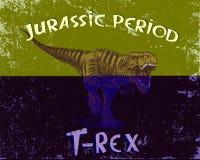 Angry tyrannosaur rex. Grunge style. Jurassic period.Vector illustration Royalty Free Stock Photos
