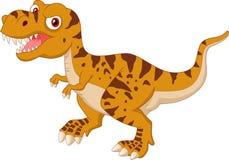 Angry Tyrannosaurus cartoon Stock Image
