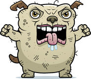 Angry Ugly Dog. A cartoon illustration of an ugly dog looking angry Royalty Free Stock Photography