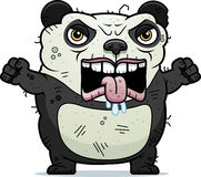 Angry Ugly Panda. A cartoon illustration of an ugly panda bear looking angry Stock Image