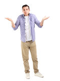 Angry unhappy young man royalty free stock photography