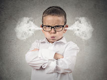 Angry upset boy, little man Royalty Free Stock Photo
