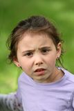 Angry and upset looking child Royalty Free Stock Image