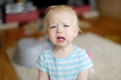 Angry upset toddler girl Stock Photos