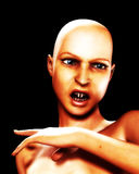 Angry Vamp 6. An image of a bald female vampire that is angry Stock Photos