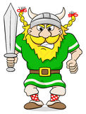 Angry viking with sword Royalty Free Stock Image