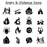 Angry & Violence icon set. Angry & Violence icon set Stock Photography