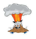 Angry volcano cartoon Stock Images