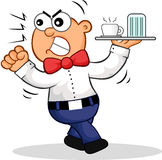 Angry Waiter Cartoon Stock Photo