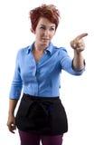 Angry Waitress Royalty Free Stock Photos