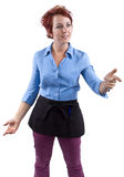 Angry Waitress Royalty Free Stock Image