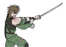 Angry warrior Stock Image