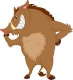 Angry warthog cartoon Royalty Free Stock Image