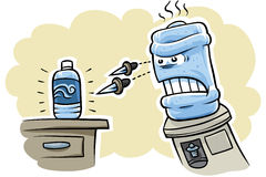 Angry Watercooler Royalty Free Stock Photo