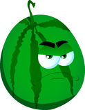 Angry watermelon Stock Images