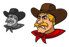 Angry western cowboy Stock Photos