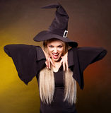 Angry witch Stock Image