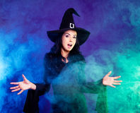 Angry witch Stock Photos