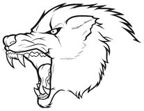 Angry wolf head icon Stock Photography
