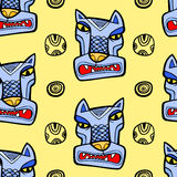 Angry wolf seamless pattern Royalty Free Stock Photo
