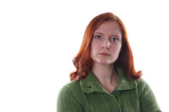 Angry woman. Portrait of an angry woman Royalty Free Stock Photos