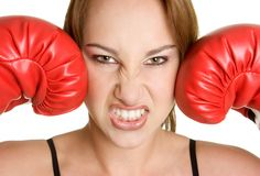 Angry Woman royalty free stock photos