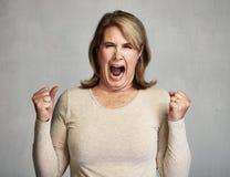 angry woman Στοκ Φωτογραφίες