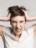 Angry woman Royalty Free Stock Photo